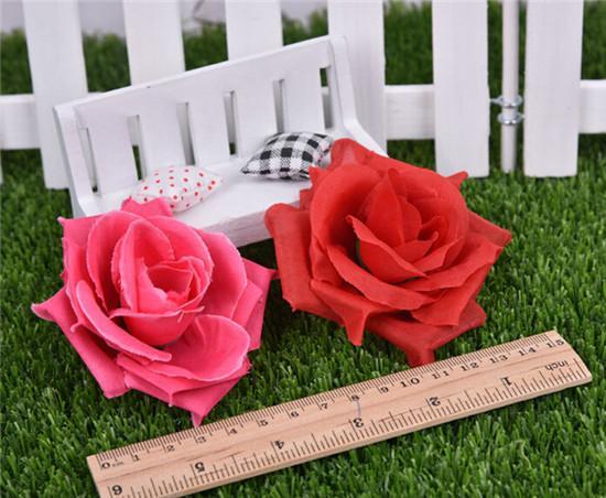 100 stks Kunstmatige Rose Bloemhoofden 14 Kleuren Zijde Pioen Hoofd Plastics Camellia voor Bruiloft Home Decoratieve bloemen