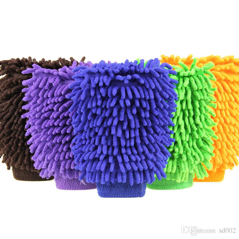 Chenille Cleaning Gloves Microfiber Car Wash Mitt Clean Window Tool For Multi Colors High Quality 2zk C R