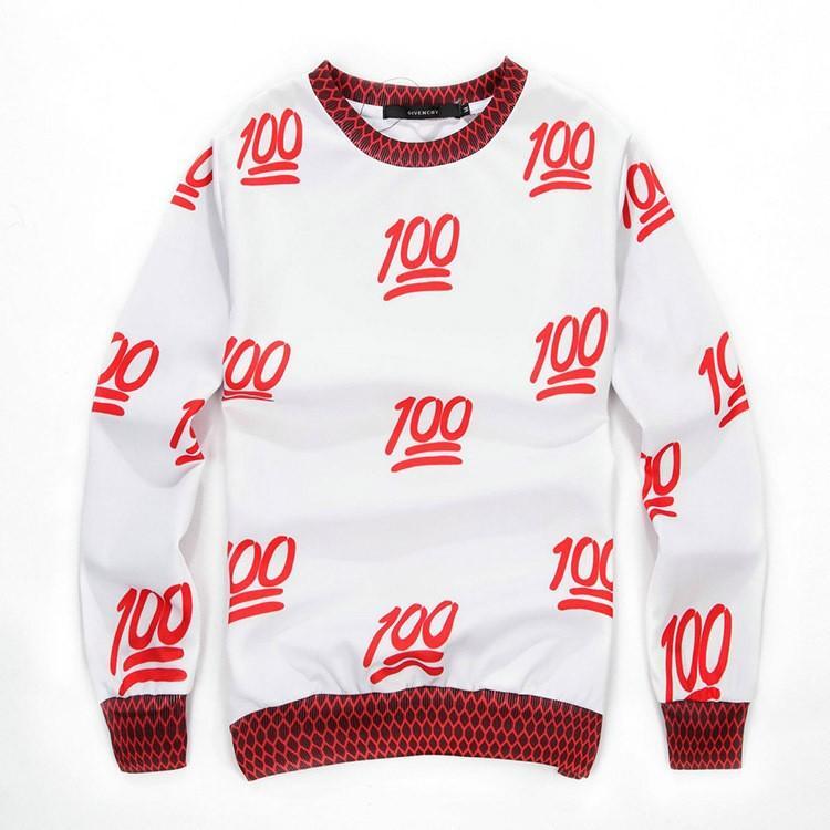 c67583339c5b 2019 2014 New Winter EMOJI 100 Score 3D Print Sweatshirts