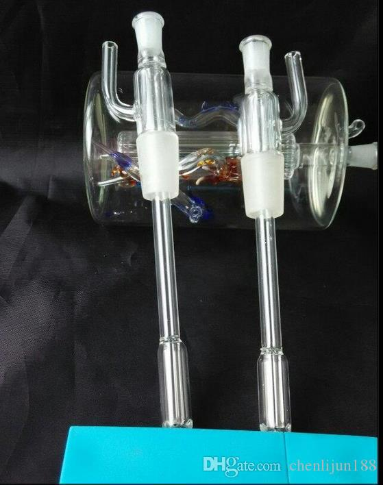 Acessórios de vidro hookah por atacado, acessórios de vidro bong, tee de vidro, frete grátis, grande melhor