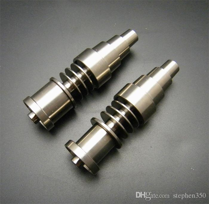 Titanium Nail Domeless GR2 para 16 mm 20 mm bobina de calentador Dnail D-Nail Enail para ambos Female Female joint 10 mm 14 mm 18 mm Glass Bong Water Piper