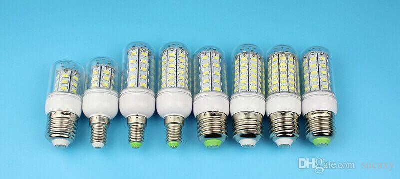2015 E27 LED E14 Led Lamps 5730 110V 220V 7W 12W 15W 18W 20W LED Corn Led Bulb Christmas Chandelier Candle Lighting