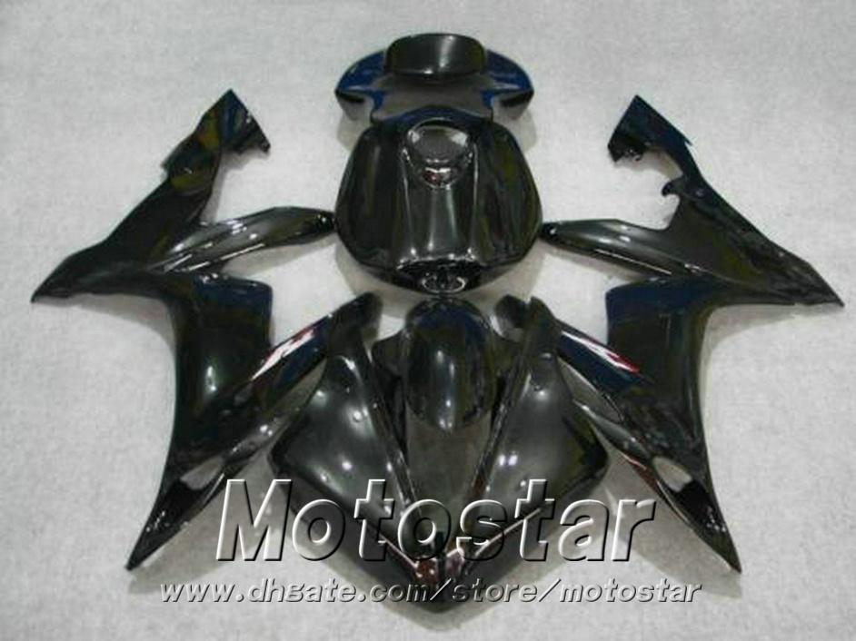 Injection molding Customize fairing kit for YAMAHA 2004-2006 YZF R1 all glossy black fairings set yzf-r1 04 05 06 bodywork VL54