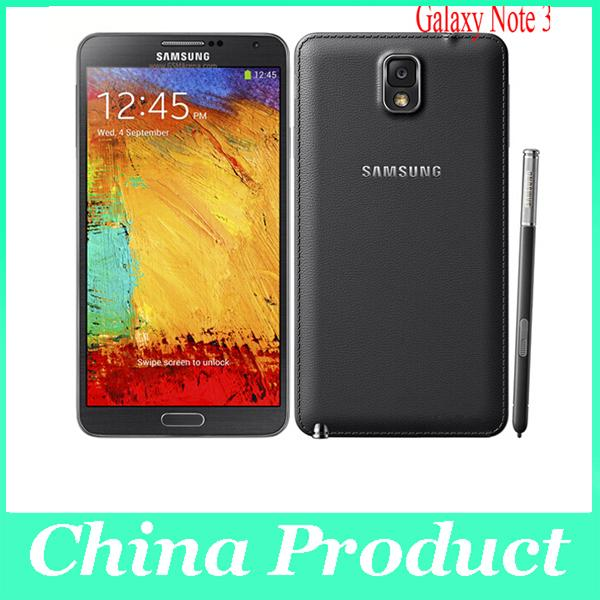 Original Samsung Galaxy Note 3 Téléphone portable Quad Core 3G RAM 16 Go ROM Appareil photo 13 MP 5,7
