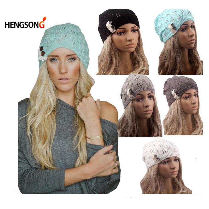 59f1f385f6d Wholesale Women Knitting Hat Winter Hats For Women Genuine Hat Handmade  Knitted Warm Hat Female High Elastic Caps Beanies Headgear Autumn Hats  Bucket Hats ...