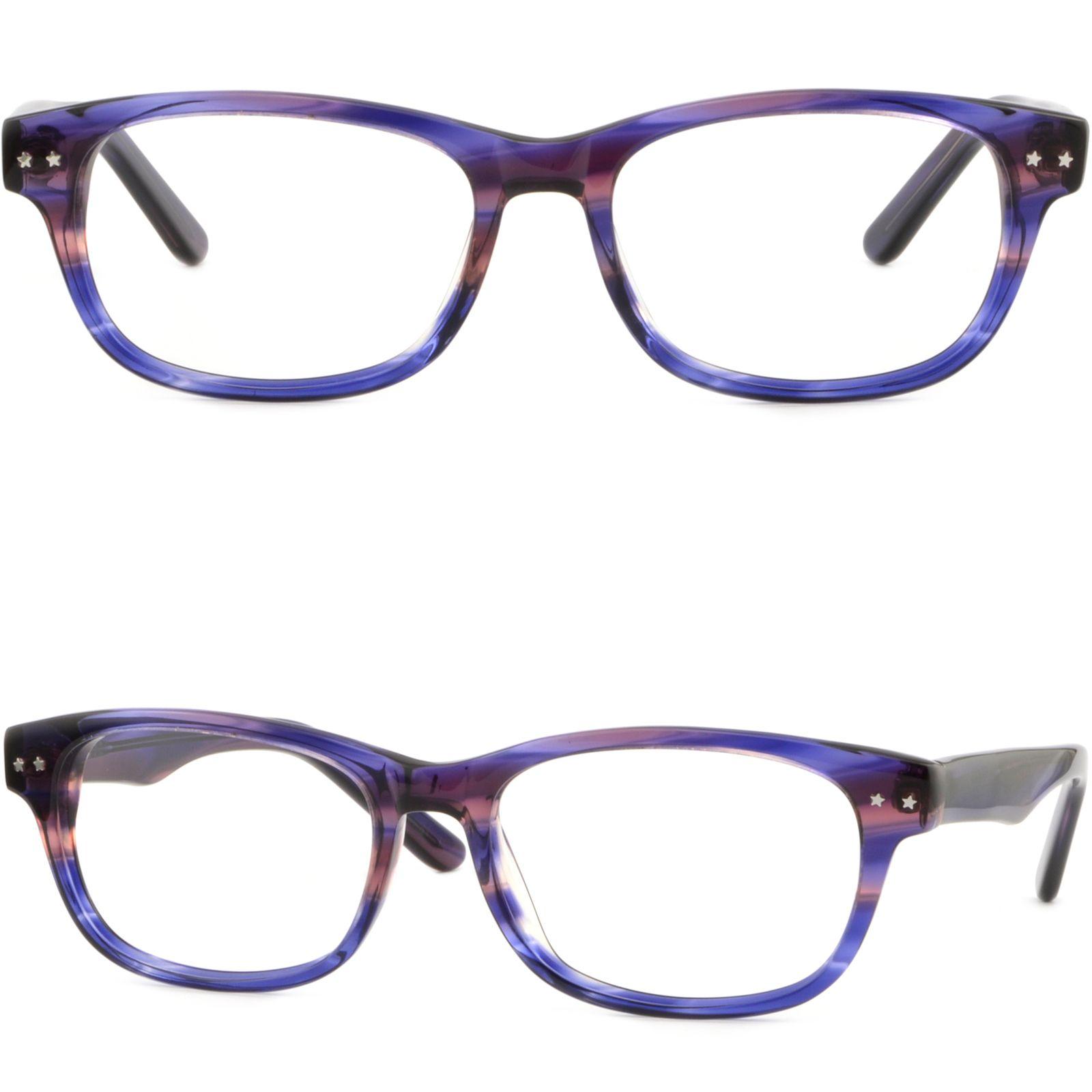 Rectangle Women\'S Frame Rx Glasses Diminutive Stars Brown Periwinkle ...