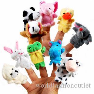 Även mini djurfinger baby plysch leksak finger marionetter pratar rekvisita 10 djurgrupp fylld plus djur fyllda djur leksaker gåvor frusna
