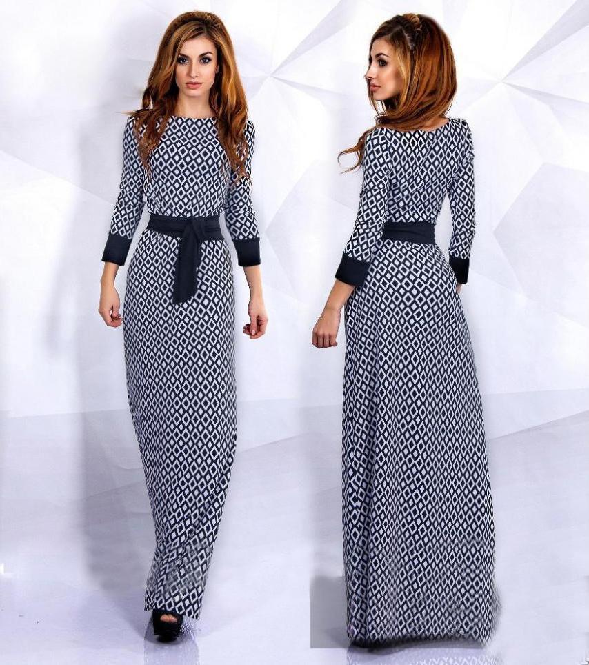 2018 New Design Fashion Woman Muslim Long Sleeve Dresses Trendy ...