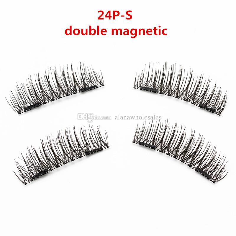 7 Models Magnetic Eyelashes 3D magic reusable magnetic eyelashes hand made silk single magnet false eyelashes