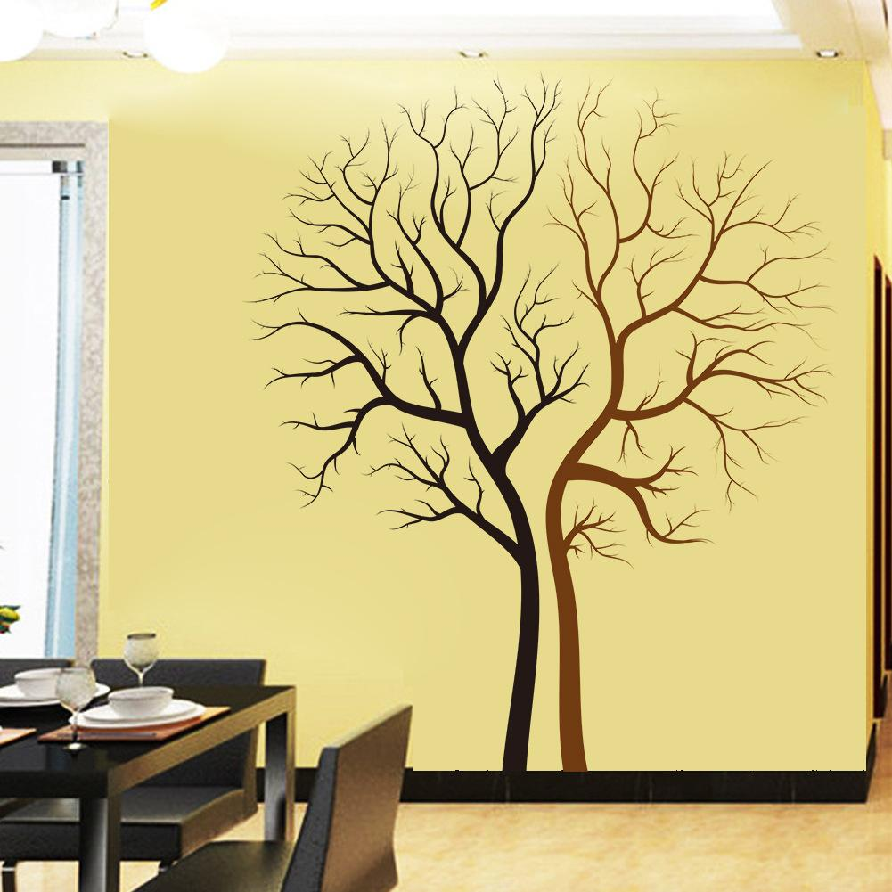 2017 Creative Lover Tree Removable Wall Art Stickers Wallpaper ...