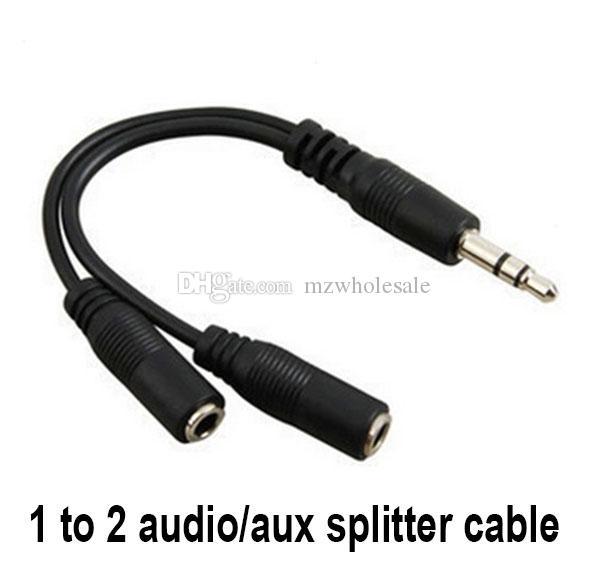 Sıcak Ses Dönüşüm Kablo 3.5mm Erkek için Bayan Kulaklık Jak Splitter Ses Adaptörü Kablosu Toptan