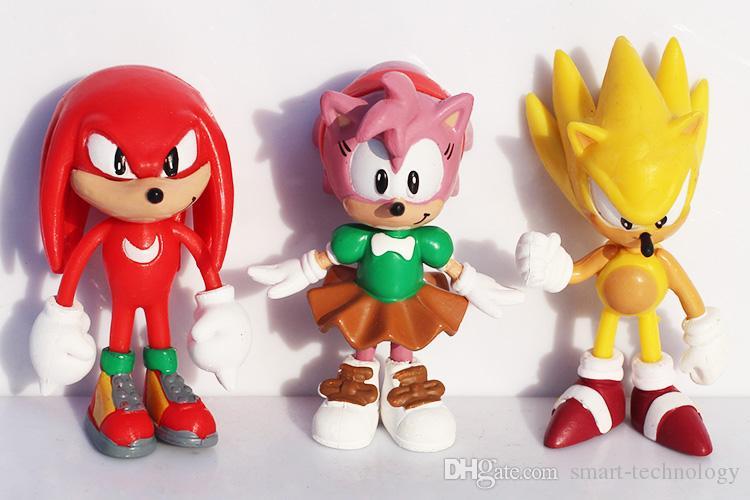 소닉 그림 장난감 음속 고슴도치 PVC 인물 장난감 만화 애니메이션 피규어 선물