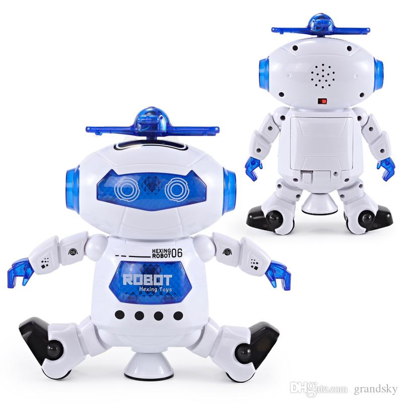 Children Gift Dancing Robert Electronic Toys With Music And Lightening Best Gift For Kids Model Toy Fast Free Shipping