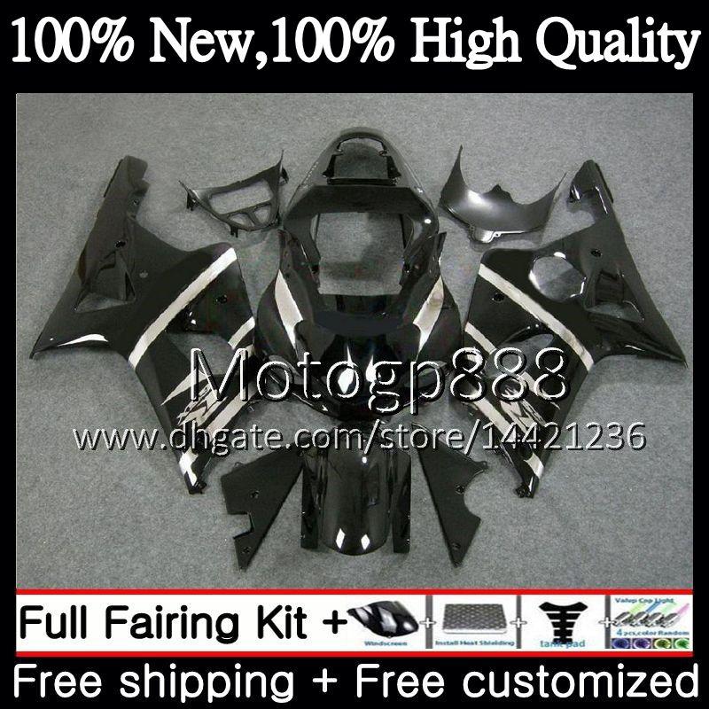 Karosserie für SUZUKI GSXR 1000 CC Schwarz glänzend K2 GSX-R1000 00 02 28PG4 GSXR1000 00 01 02 GSXR-1000 GSX R1000 2000 2001 Verkleidung Karosserie 2002