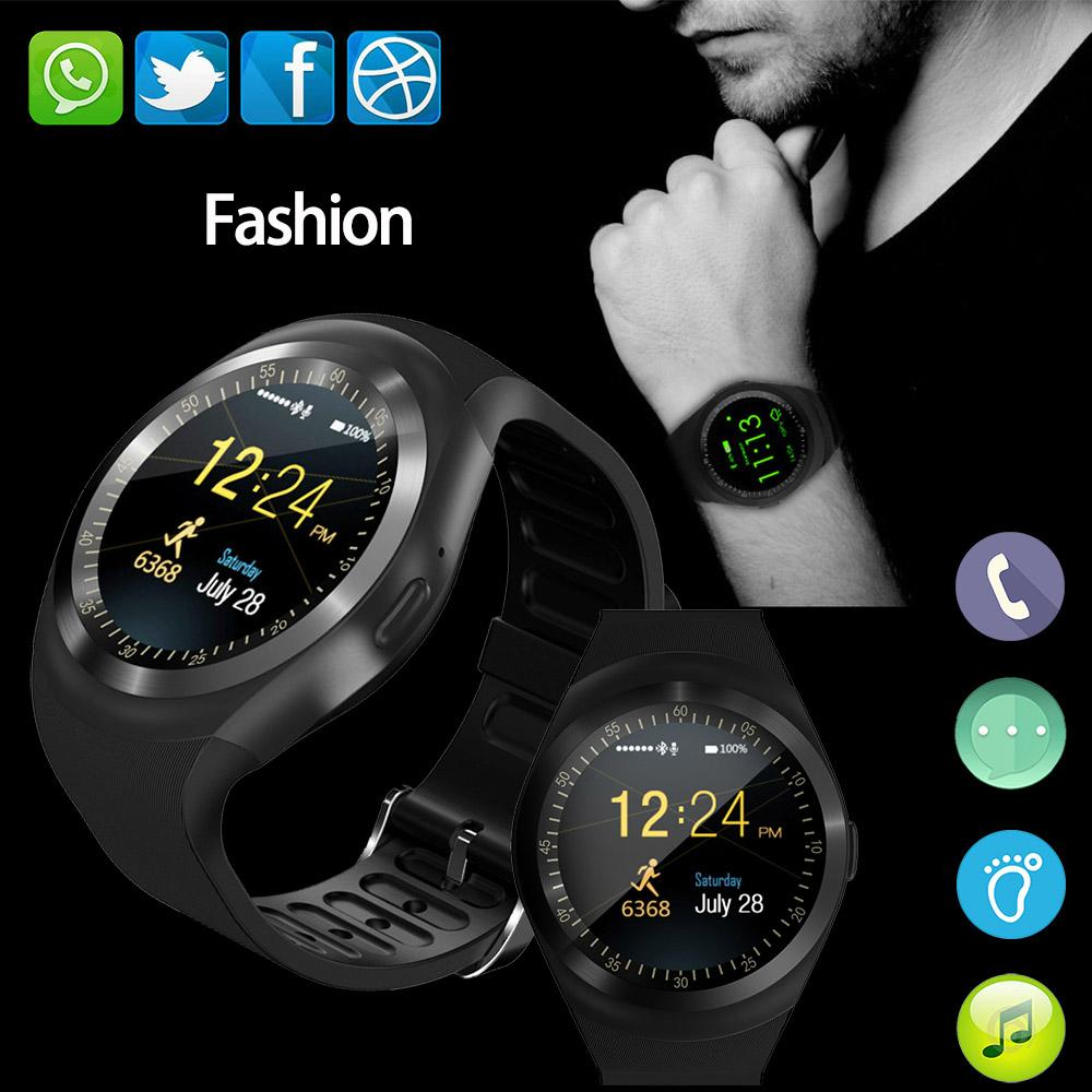 Y1 Smart Watch support Nano SIM Card and TF Card With Whatsapp and Facebook Twitter APP fitness smartwatch for iPhone HTC Xiaomi
