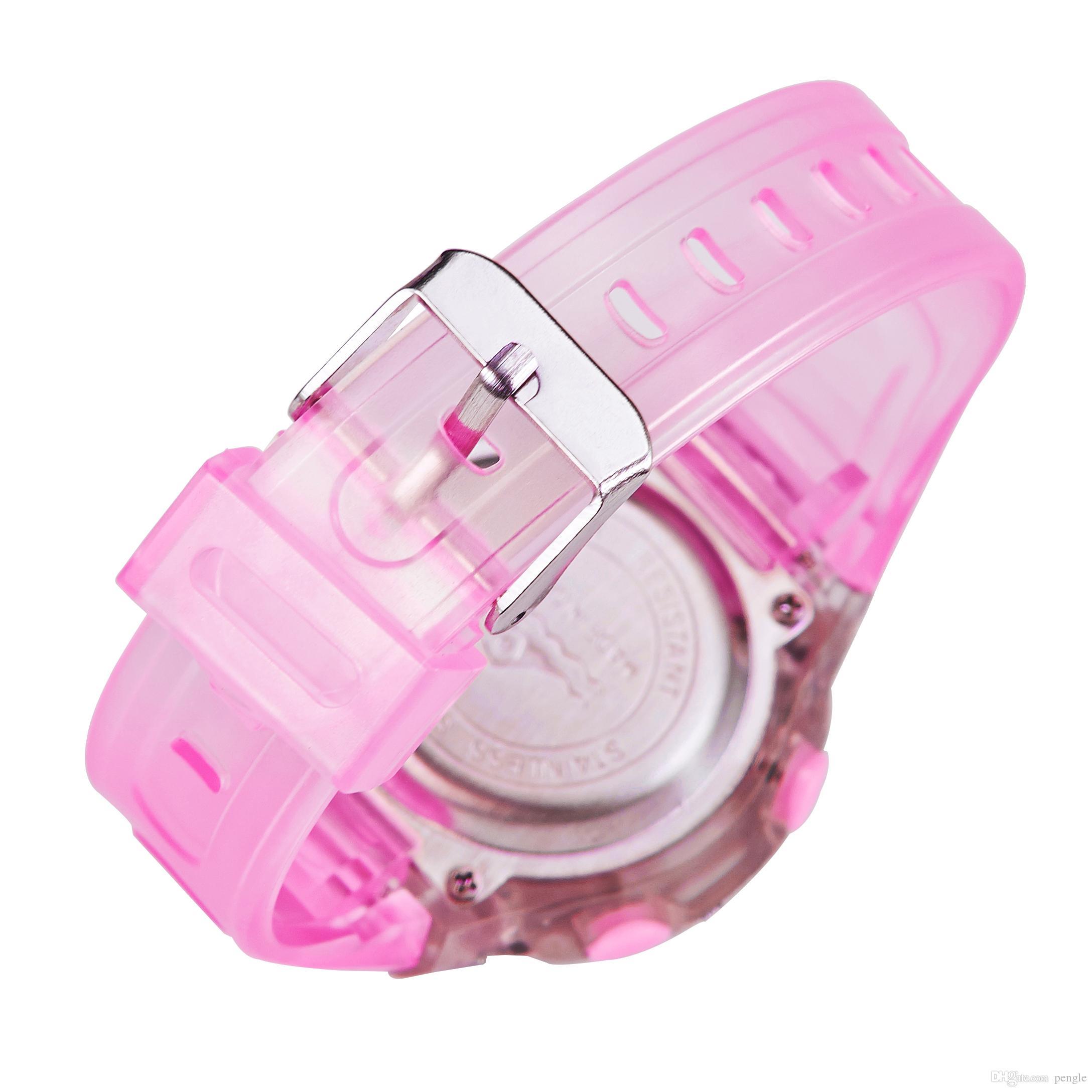 Vendita calda casual digitale sport bambini orologi elettronici PU cinturino in plastica impermeabile orologio da polso bambini regali di natale 99329