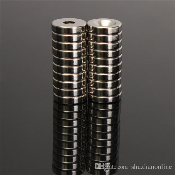 N50 12x3mm Strong Countersunk Ímãs de Anel de 4mm de Furo de Neodímio Terra Rara