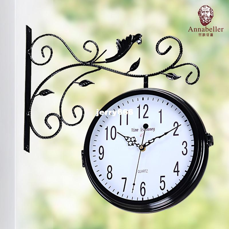 annabel double sided wall clock wrought iron garden european style retro wall clock watches mute clock unique wall clocks for sale unique wall clocks large