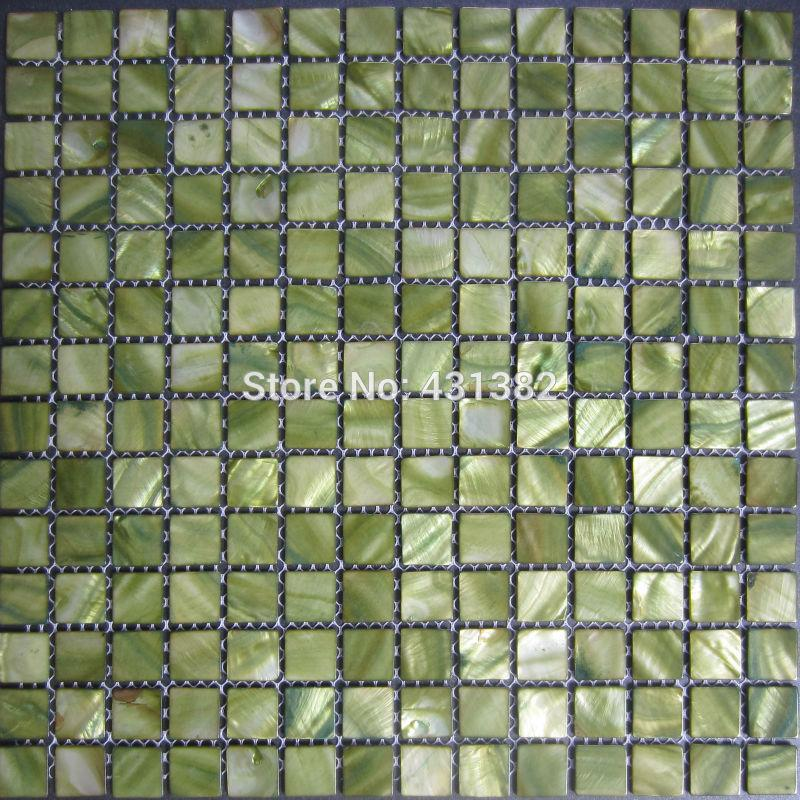 Mosaic Tiles Green,mother of Pearl Tiles, Inner Wall Tiles,kitchen ...