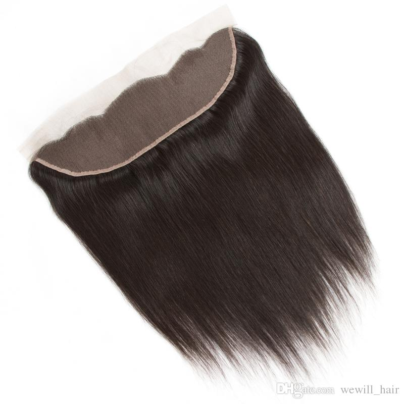 Brazilian Peruvian Straight Human Hair Weave Bundles Straight Weaves Style with Lace Frontal Closure and Bundles Remy Hair Company