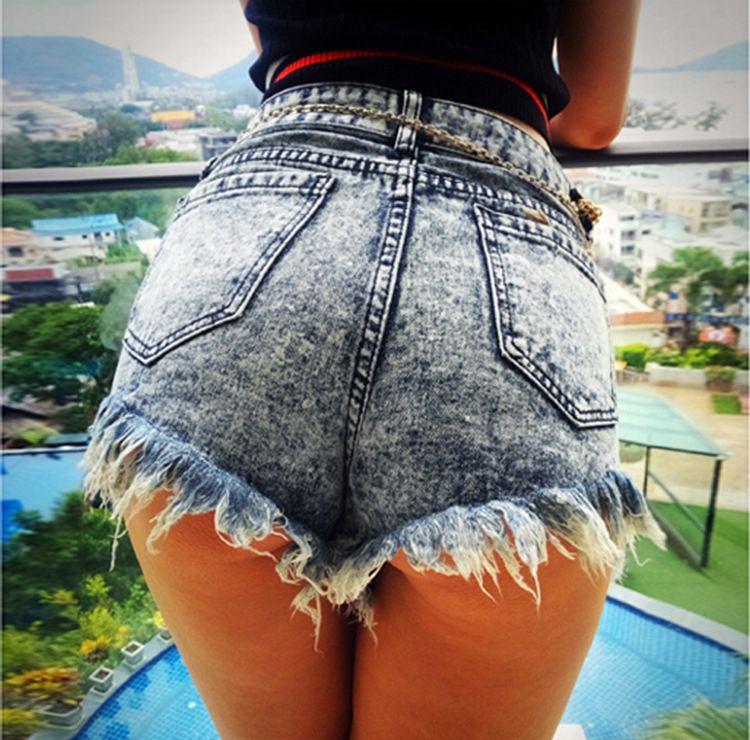f6f3f1ff3d4 New Fashion Distressed Denim Shorts Ladies Ripped Hot Shorts Sexy ...