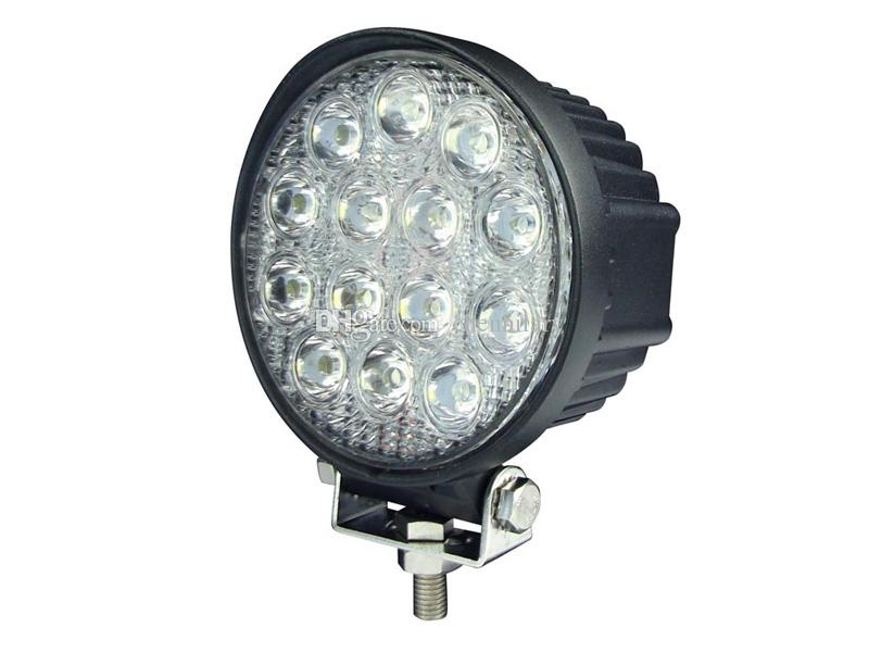 6000k LED Work Light High Power 42W LED Flood Light Round Off road Lighting 12V/24V Fishing Airboat ATV Quad Worklights