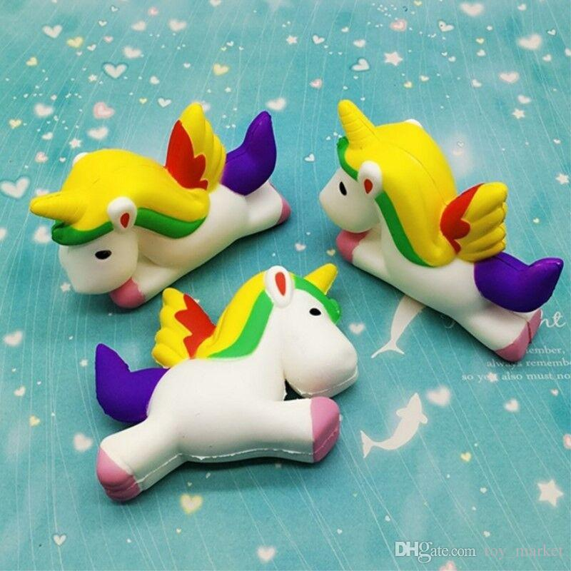 2017 Newest A sticky flying horse Squishies Simulation Food For Key Ring Phone Chain Toys Gifts All Kinds Of Style