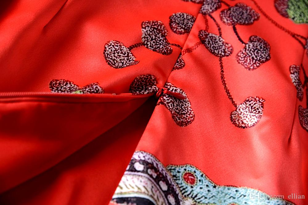 Мода печати Женщины Оболочка платье вокруг шеи платья без рукавов 120812