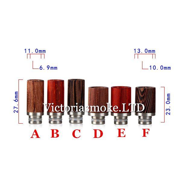 Hot Selling 510 wood drip tips for dct ce4 protank vivi nova evod atomizer mouthpiece e cig rda vaporizer mod e cigarettes Victoriasmoke.LTD