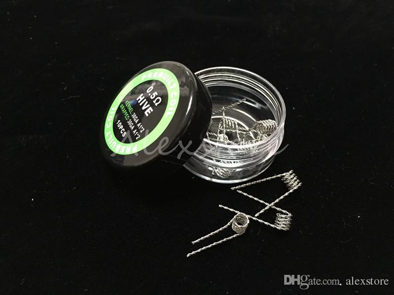 Düz bükülmüş tel Sigortalı clapton bobinleri Hive premade wrap teller Alien Mix bükülmüş Quad Tiger 9 Farklı Isıtma Direnci 10 adet / kutu RDA için