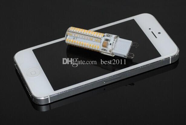 Mini G9 3.2W-3.6W LED Lamp 3014 SMD AC 110V 220V Silicone Body LED Corn Bulb 104LEDs Crystal Chandelier COB Spot Light