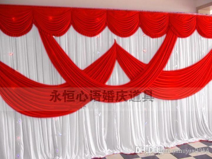 2016 newly design 20ft by 10ft white color wedding backdrop curtain