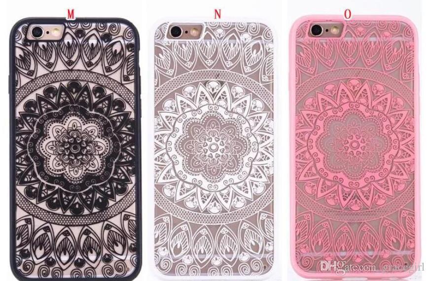 73070e2f64b Fundas Para Celulares Personalizadas Datura Henna Floral Blanco De Paisley  Flower Funda De TPU De Plástico Duro Para Iphone 8 7 6 6S Plus SE 5 5S ...