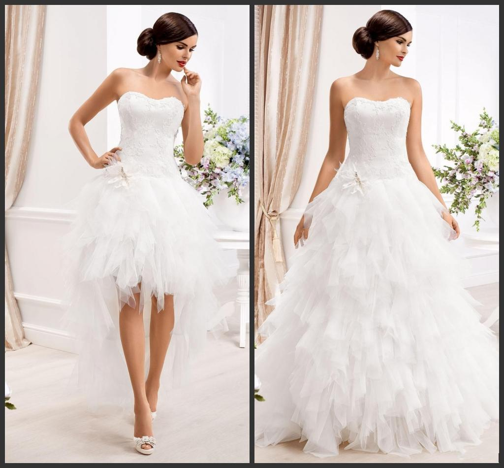 2015 two in one wedding dresses with detachable skirt sweetheart 5 ombrellifo Choice Image