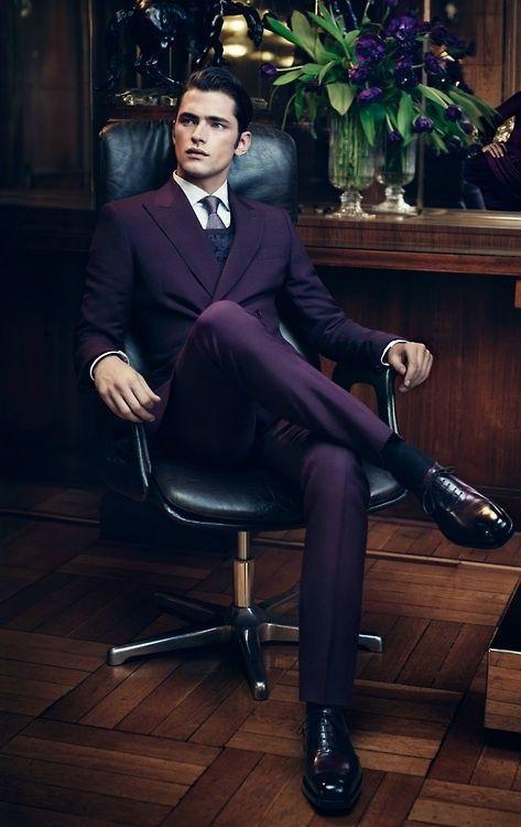Unique Design Grape Slim Fit Handsome Mens Suits For Wedding Groon ...