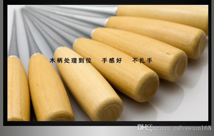 أداة بسيطة وعملية المنزلية شعبية DIY الأدوات اليدوية المتقدمة مقبض خشبي الخشب الخرامه قليلا من حفرة لكمة الخرامه
