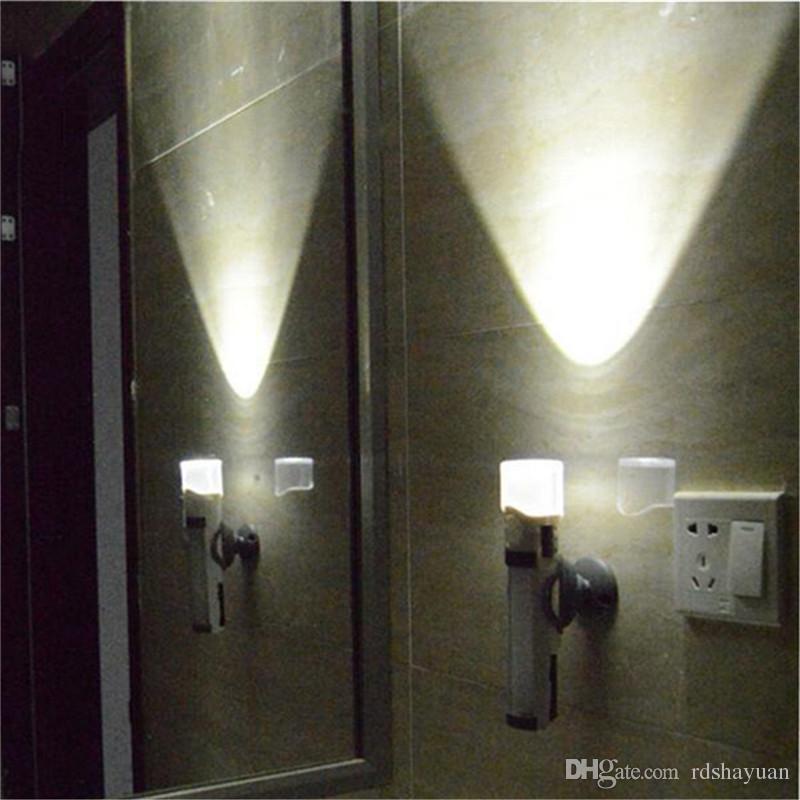 DC 4,5 V 3in1 Wiederaufladbare 3 LED PIR Bewegungsmelder Nachtlicht Lampe Notfall Taschenlampe 4 Modi Farbe Weißes Licht