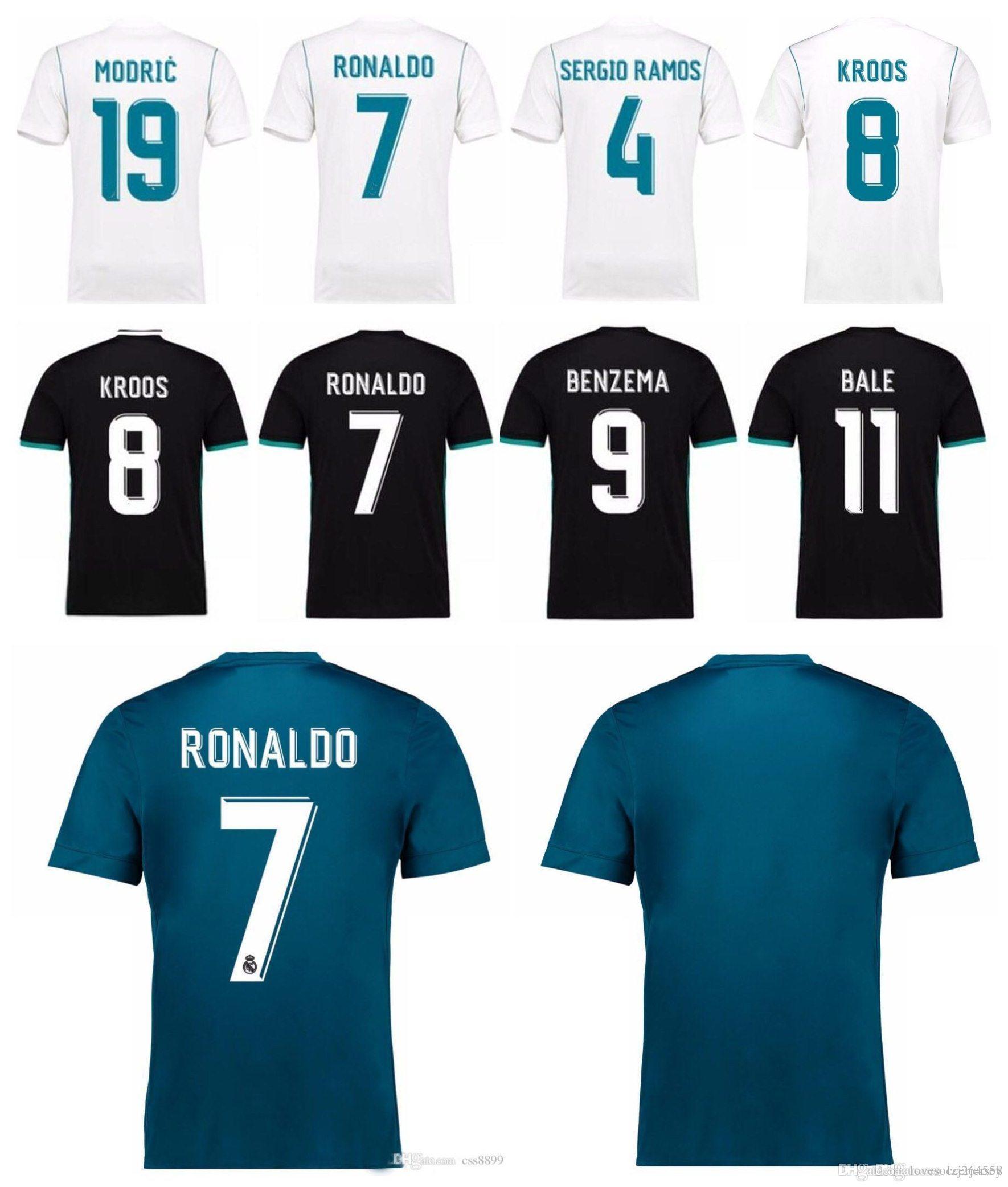 0ab6ecedc7 Compre 2018 Versão Do Jogador Real Madrid Camisa De Futebol 17 18 ...