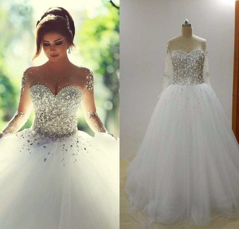 Wedding Gown For Sale: 2015 Hot Sale Ball Gown Said Mhamad Wedding Dresses Heavy