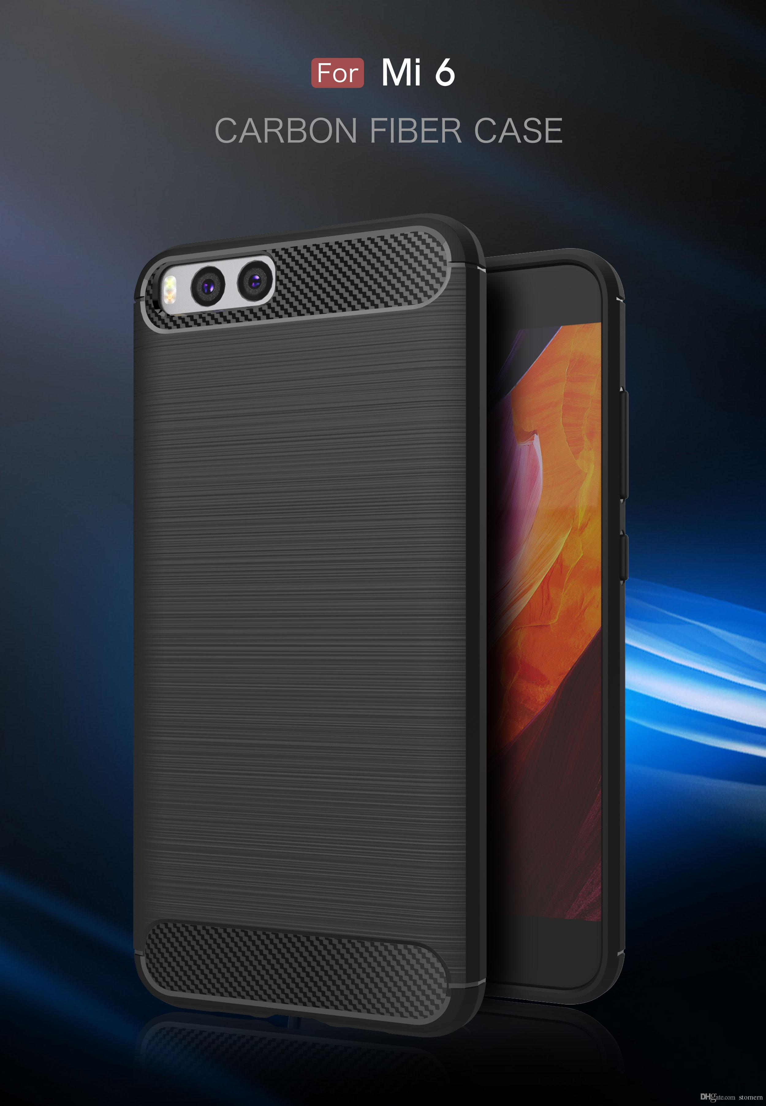 Carbon Fiber Case For Xiaomi Note 3 Mix 2 Redmi 5a Prime Max Temperred Glass Softcase Mi 6 Plus 5x A1 Brushed Silicone Soft Rubber Back Cover Armor Rugged Glitter Cell Phone