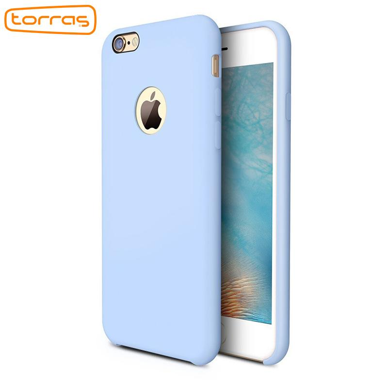 57924eb20e Torras Liquid Silicone Rubber Case For Iphone 6 6 Plus Soft Phone Cover Case  Microfiber Cushion Phone Case For Iphone 7 7 Plus Customize Your Own Cell  Phone ...