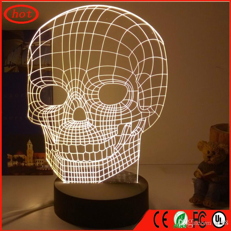 Best skull 3d deco light baby room lamp table lamp for bedroom best skull 3d deco light baby room lamp table lamp for bedroom night light with amazing 3d optical illusion lampshade creative gift under 6207 dhgate aloadofball Gallery