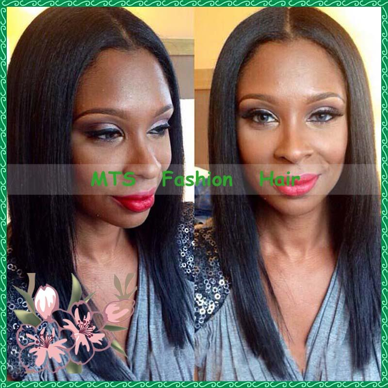 Black Women Full Lace Wigs Glue Less Virgin
