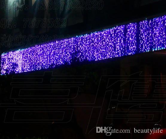 10 متر * 1.5 متر 540 المصابيح أضواء اللمعان حارة led سلسلة مصابيح الستار جليد عيد حديقة المنزل أضواء مهرجان 110 فولت -220 فولت