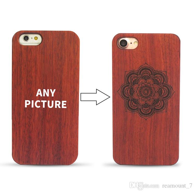 3e38caf3b8 Customized Laser Carving Laser Laser Engraving For TPU Wood Case For IPhone  7 Plus IPhone 7 Case Natural Wooden Phone Back Cover Phone Cases Cell Phone  ...