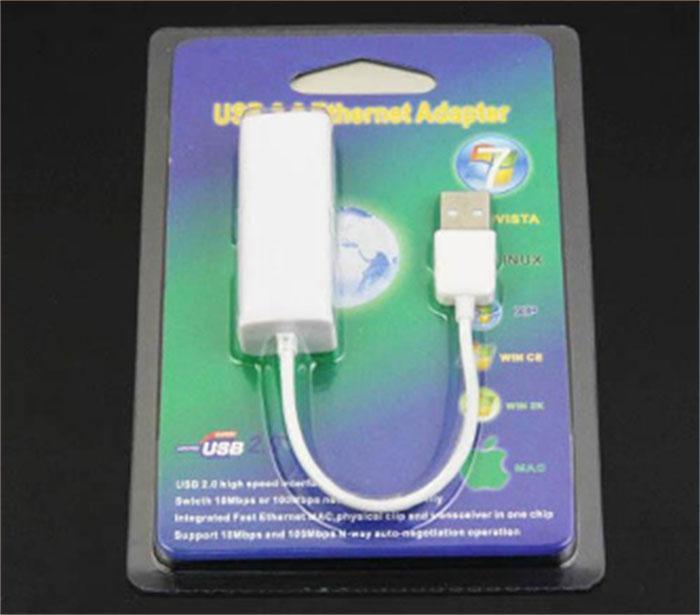 3 portlu HUB USB'den RJ45'e USB 2.0'dan Yüksek Hızlı Ethernet Ağına LAN Adaptör Kartı 10/100 Adaptör PC, Laptop, LAN adaptörü