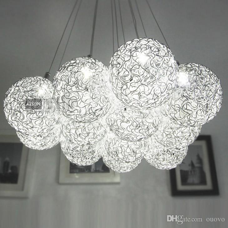 modern aluminum wire global ceiling pendant light dining room restaurant room pendant lighting fixtures living room chandelier fixtures rectangular pendant - Rectangular Pendant Light Dining
