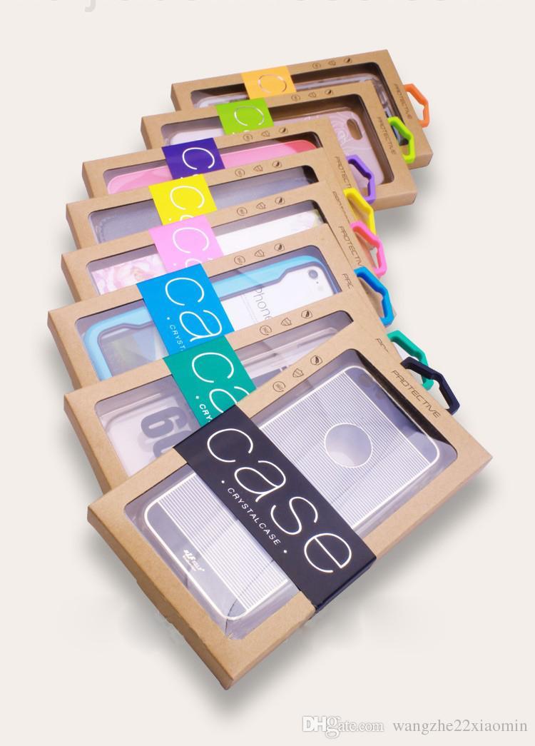 Logotipo personalizado personalizado empaquetado al por menor Caja de papel Karft caja de embalaje para iPhone 8 XS 11 MAX Pro para Samsung S20 Plus Ultra cubierta de la caja del teléfono