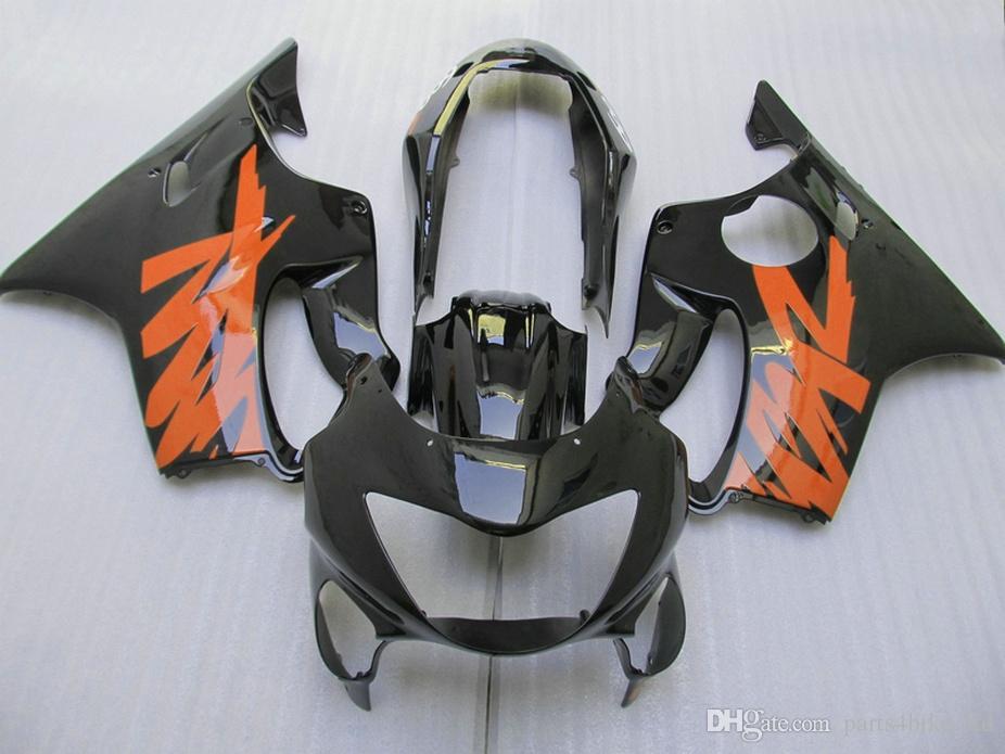 7Gifts Injection orange black bodywork Customize for Honda fairings 99 00 CBR 600 F4 fairing kit CBR600 F4 1999 2000 OVIA