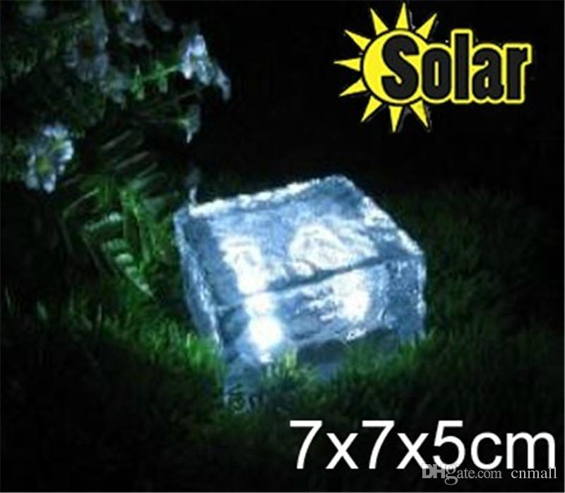 Attractive Solar Ice Brick Light Outdoor Solar Lights 4 Bright LED Square Shape Solar  Powered Garden Light Solar Ground Light Solar Underground Lamp Photo